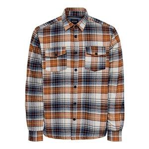 Only & Sons Only & Sons Lumberjacks Shirt Orange Checkered