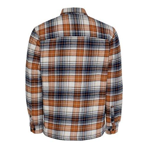 Only & Sons Only & Sons Lumberjacks Jacket Oranje Geblokt