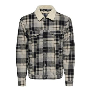Only & Sons Only & Sons Lumberjacks Bomber Jacket Checkered Brown