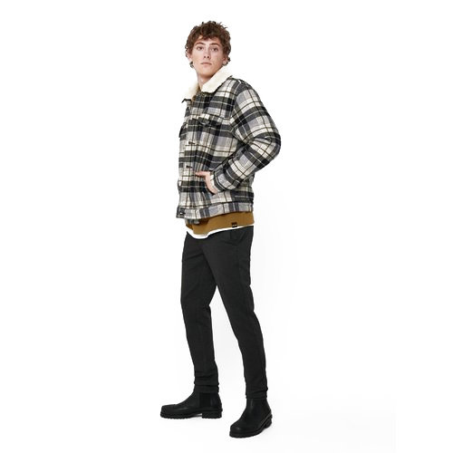 Only & Sons Only & Sons Houthakkers  Bomber Jas  Geruit Bruin