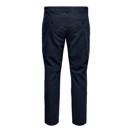Only & Sons Only & Sons Pantalon Onsmark Pants Blauw Gestreept