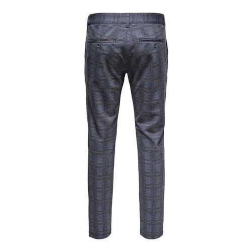 Only & Sons Only & Sons Onsmark Kamp Tap Pantalon Grijs Geruit