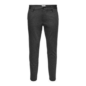 Only & Sons Only & Sons Striped Pantalon Donker Grijs