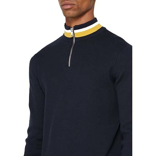 Only & Sons Only & Sons Onsrobbie 12 Half Zip Knit Sweater Navy Blauw