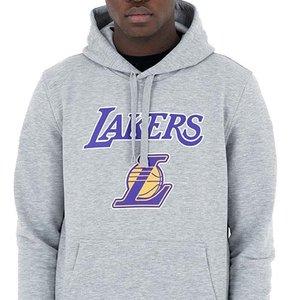 New Era New Era LA Lakers Hoodie Gray