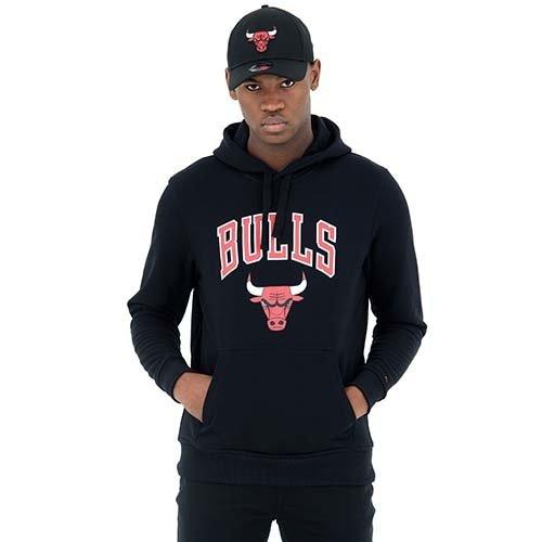 New Era New Era Chicago Bulls Hoodie Zwart