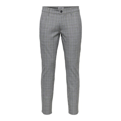 Only & Sons Only & Sons Check Print Pantalon Gray