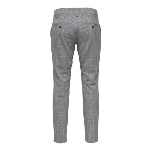 Only & Sons Only & Sons Check Print Pantalon Grijs