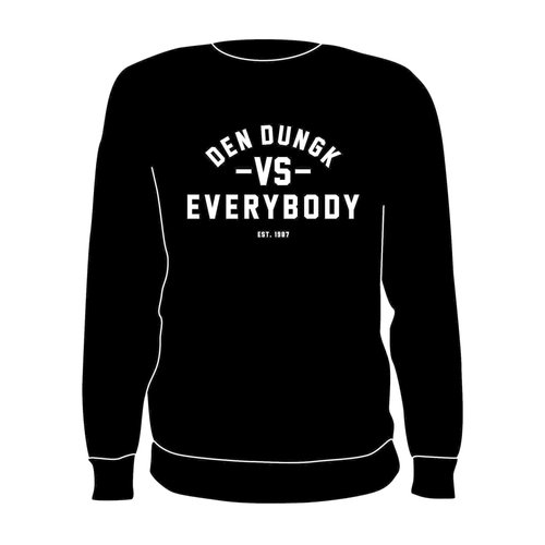 Burned Teamwear Den Dungk Crewneck Zwart