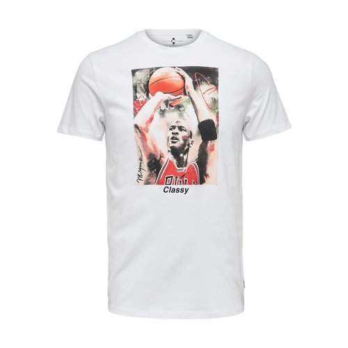 Only & Sons Only & Sons Michael Jordan T-Shirt Wit