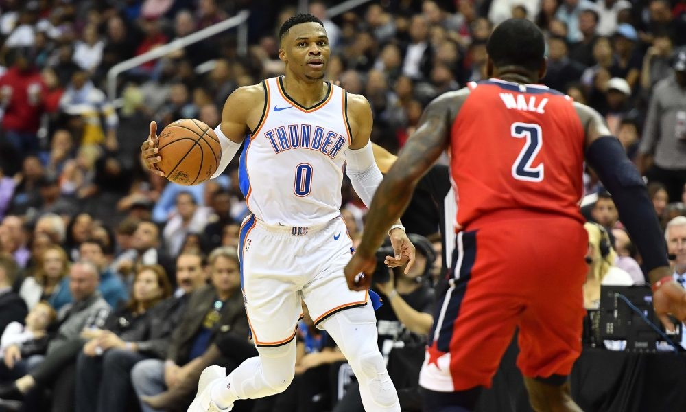 Russell-Westbrook-John-Wall-Basketball-basketbal-NBA