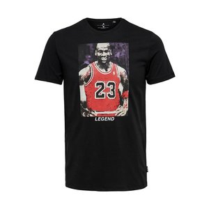 Only & Sons Only & Sons Michael Jordan T-Shirt Zwart