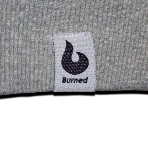 Burned Burned grauer Raglan mit Rundhalsausschnitt