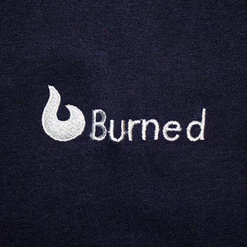 Burned Burned Crewneck Navy Raglan