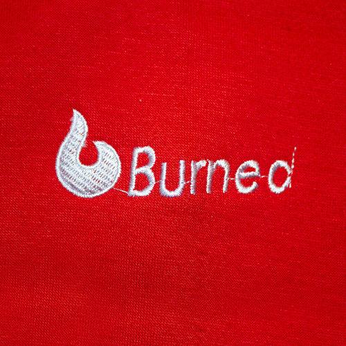 Burned Burned Crewneck Red Raglan