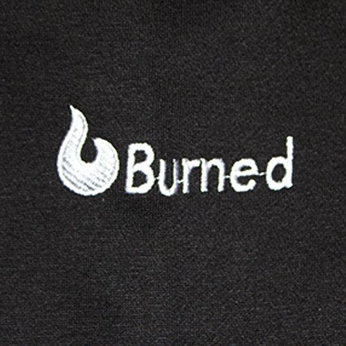 Burned Burned Crewneck Black Raglan