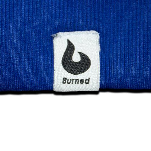 Burned Burned Crewneck Royal Blauw