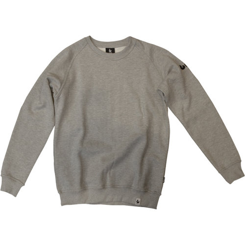 Burned Burned Crewneck Gray Raglan