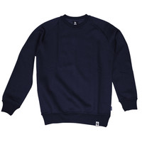 Burned Crewneck Navy Raglan