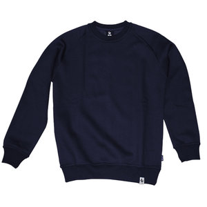 Burned Burned Crewneck Navy Raglan