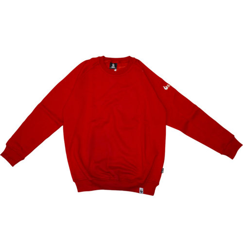 Burned Burned Crewneck Red Raglan