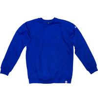 Burned Crewneck Royal Blauw Raglan