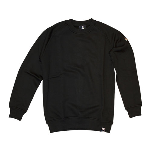 Burned Burned Crewneck Black Raglan