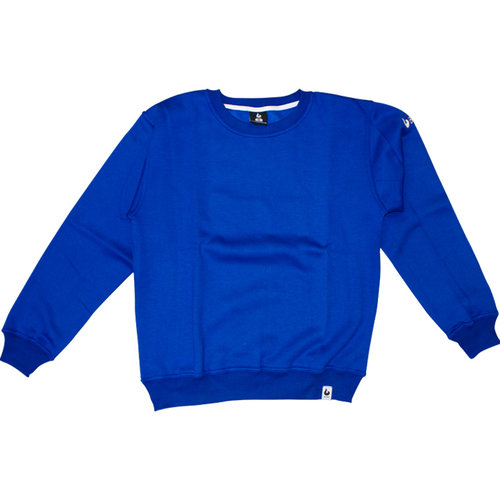 Burned Burned Crewneck Royal Blauw