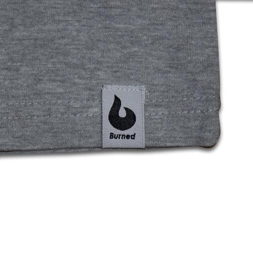 Burned Burned T-shirt Grau