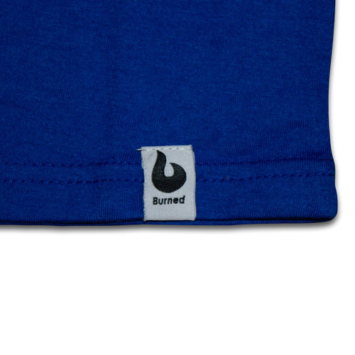 Burned Burned T-shirt Royal Blauw