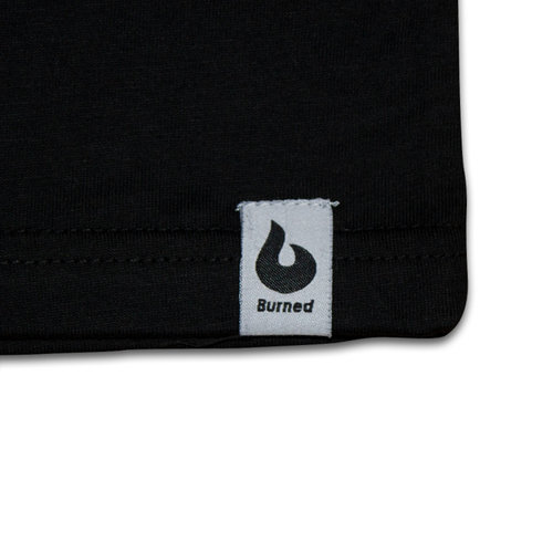Burned Burned T-shirt Zwart