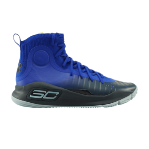 Under Armour Under Armour Curry 4 Mid Blauw Geel (GS)