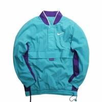 Nike Basketball Woven Half Zip Jacket Charlet Hornets