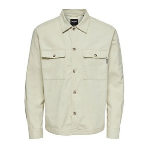 Only & Sons Only & Sons Ilvio  Twill Overshirt Beige