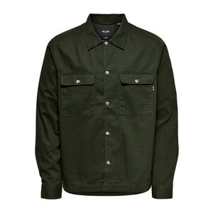 Only & Sons Only & Sons Ilvio  Twill Overshirt Green