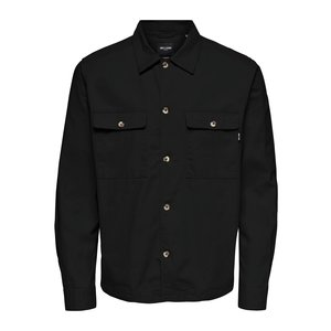 Only & Sons Only & Sons Ilvio  Twill Overshirt Black