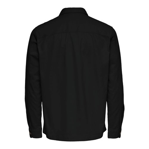 Only & Sons Only & Sons Ilvio  Twill Overshirt Zwart
