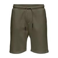 Only & Sons Sweat Short Grün