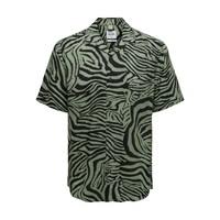 Only & Sons Shirt Zebra Print Green