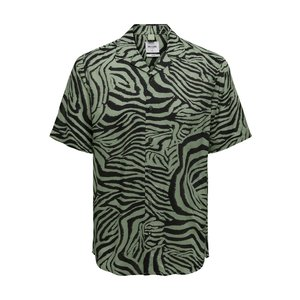 Only & Sons Only & Sons Shirt Zebra Print Green