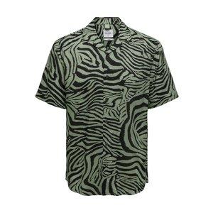 Only & Sons Only & Sons Shirt Zebra Print Grün