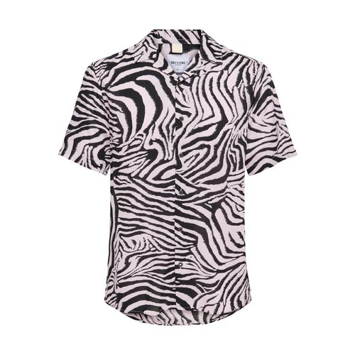 Only & Sons Only & Sons Shirt Zebra Print Creme