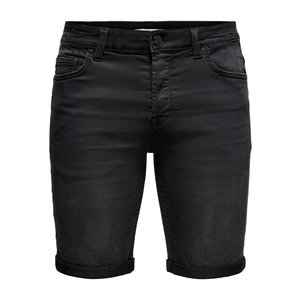 Only & Sons Only & Sons Jean Short Zwart