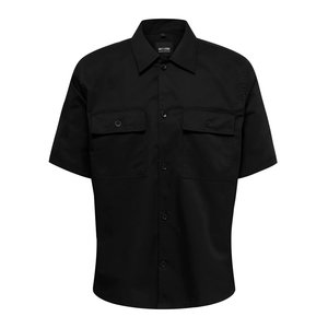 Only & Sons Only & Sons Compact Twill Overshirt Zwart