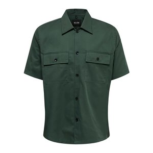 Only & Sons Only & Sons Compact Twill Überhemd Grün