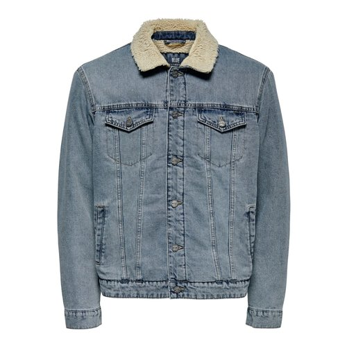 Only & Sons Only & Sons Spijker Jas Blauw