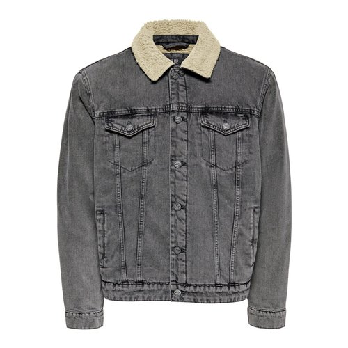 Only & Sons Only & Sons Spijker Jas Grijs