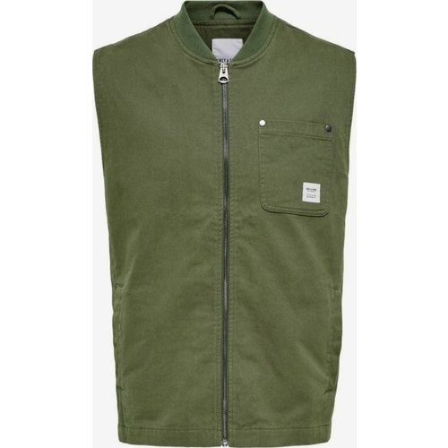 Only & Sons Only & Sons Life Gilet Groen