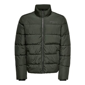 Only & Sons Only & Sons Melvin Life Puffer Jacket Donkergroen