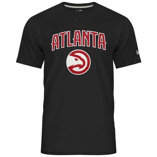 New Era New Era NBA Tee Atlanta Hawks Zwart